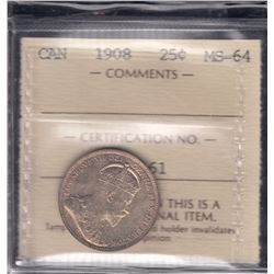 Canada - 1908 Twenty Five Cents