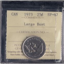 Canada - 1973 Twenty Five Cents - Large Bust