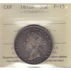 Canada - 1872H Fifty Cents