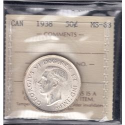 Canada - 1938 Fifty Cents