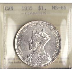Canada - 1935 Silver Dollar
