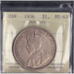 Canada - 1936 Silver Dollar