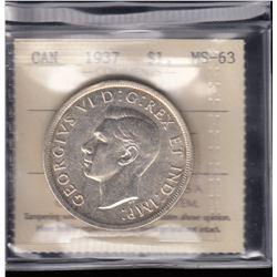 Canada - 1937 Silver Dollar