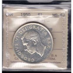 Canada - 1950 Silver Dollar