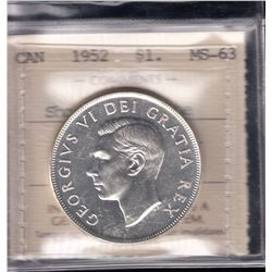 Canada - 1952 Silver Dollar