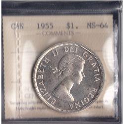 Canada - 1955 Silver Dollar
