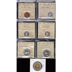 Canada - ICCS Graded Proof Like Coins plus Bonus - Lot of 7