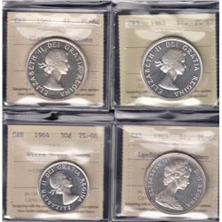 Canada - ICCS Graded Gem Proof Like Coins - Lot of 4