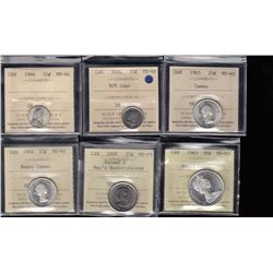 Canada - ICCS Graded Gem Mint State Coins - Lot of 6