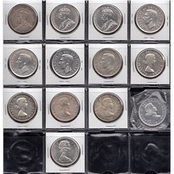 Canada - Silver Dollars - Lot of 13