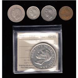 Canada - 1948 Canada Partial Set - Lot of 5