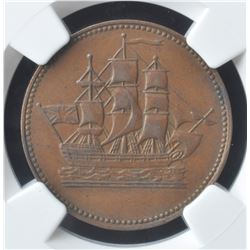 Ships Colonies & Commerce Token, 1835