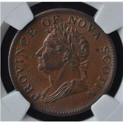 Nova Scotia Half Penny Token, 1832