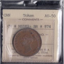 Province of Nova Scotia Half Penny Token, 1840