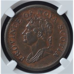 Nova Scotia One Penny Token, 1832