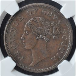 Nova Scotia One Penny Token, 1840