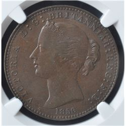 Nova Scotia One Penny Token, 1856