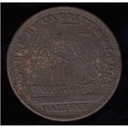 Nova Scotia Half Penny Token, 1814