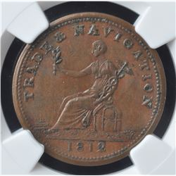 Trade & Navigation Half Penny Token, 1812