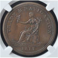 Trade & Navigation One Penny Token, 1813