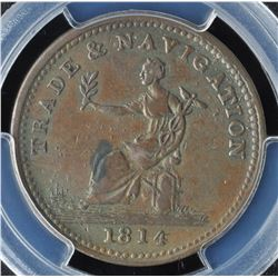 Trade & Navigation One Penny Token, 1814