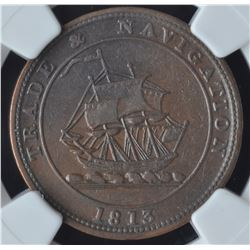 Trade & Navigation Half Penny Token, 1813