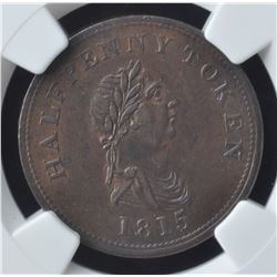 Navigation & Trade Half Penny Token, 1815