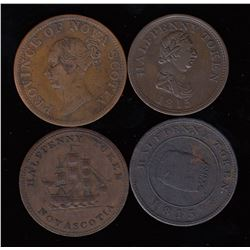 Nova Scotia half pennies - Lot of 4