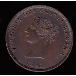 New Brunswick Half Penny Token, 1843