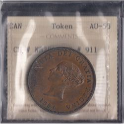New Brunswick One Penny Token, 1854