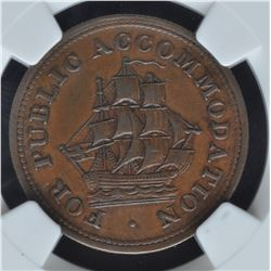 New Brunswick Half Penny Token, 1830