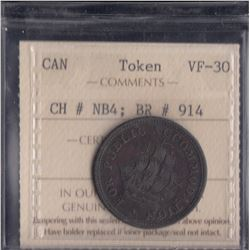 New Brunswick Half Penny Token