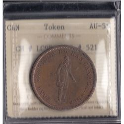One Penny Quebec Deux Sous Bank Token.
