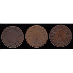 Half Penny, 1841 - Lot of 3