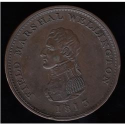 Field Marshal Wellington Penny Token, 1813