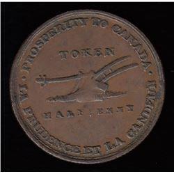 Upper Canada Half Penny Token, 1824