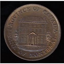 Province of Canada Bank of Montreal Half Penny, 1844