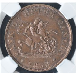 Bank of Upper Canada Half Penny Token, 1852