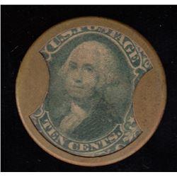 Encased Postage Stamp