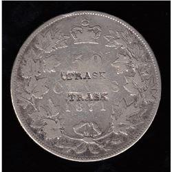 Victoria, Canada 50 Cents, 1871