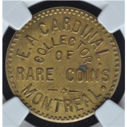 E.A. Cardinal's Numismatist Card