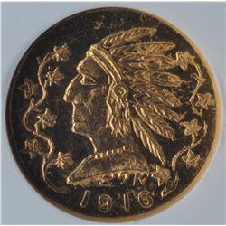 1916 British Columbia $1 Gold Token