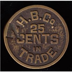 HUDSON'S BAY COMPANY - Cast token.  Columbia District.