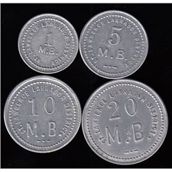 HUDSON'S BAY COMPANY - St. Lawrence-Labrador District tokens.