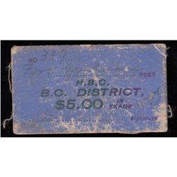 HUDSON'S BAY COMPANY CARD TOKEN - Fort Grahame Post.