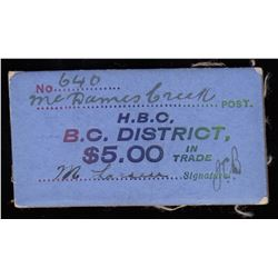 HUDSON'S BAY COMPANY CARD TOKEN - McDames Post.