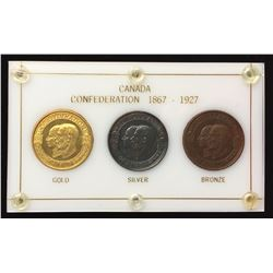Canadian Medal - Confederation Medals, 1927 - Set of 3 Official Medals