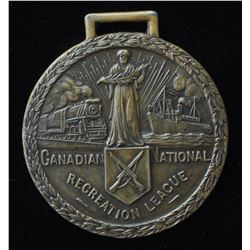 Canadian National Railway Recreation League Medal