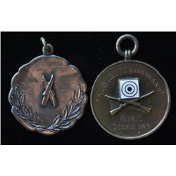 Shooting Medals - Lot of 2