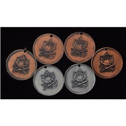 Canadian Small Bore Rifle Assn Medals - Lot of 6